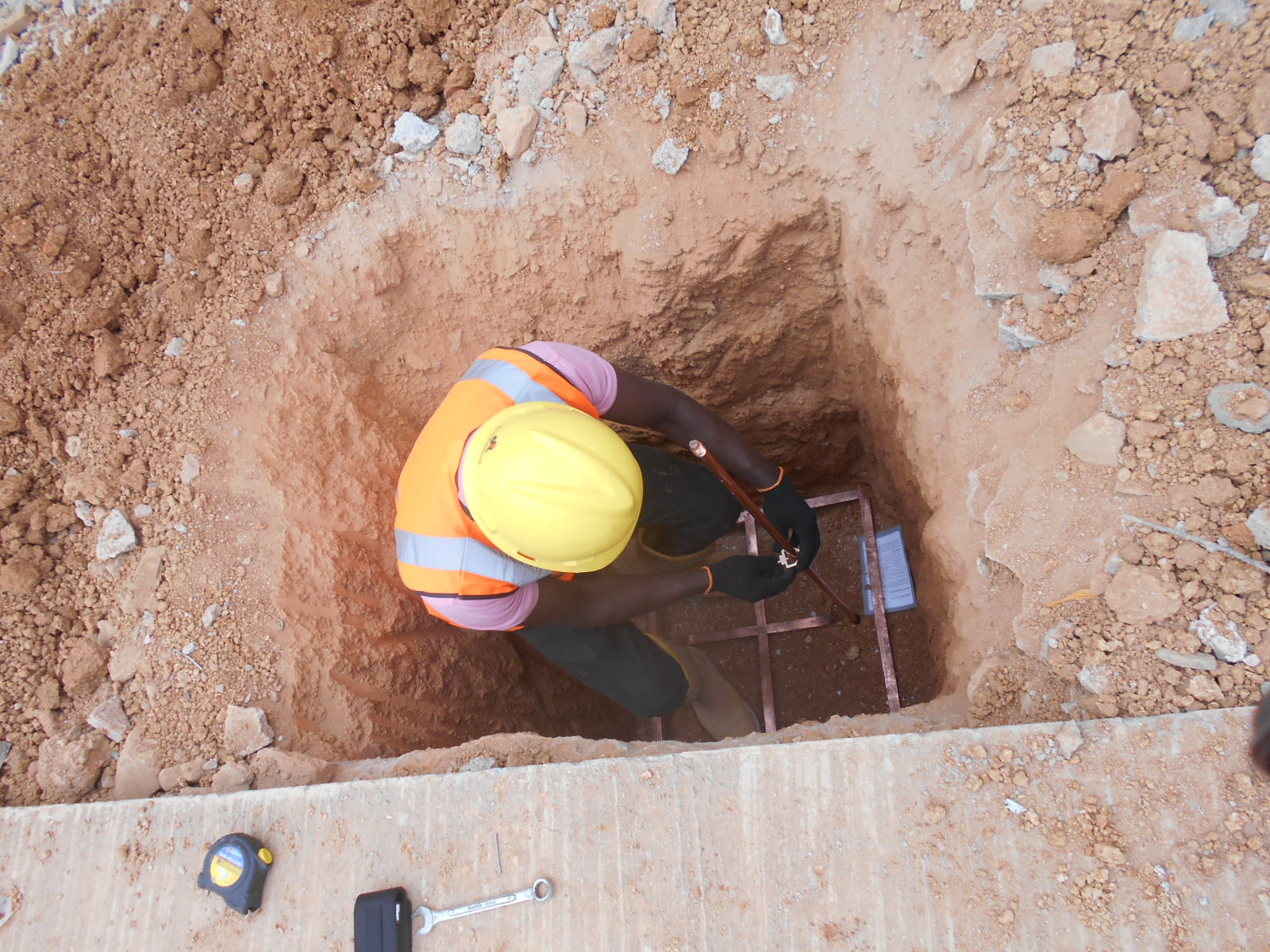 PREPERATION OF EARTHING SYSTEM POINT AT JABI SHOPPING MALL, ABUJA