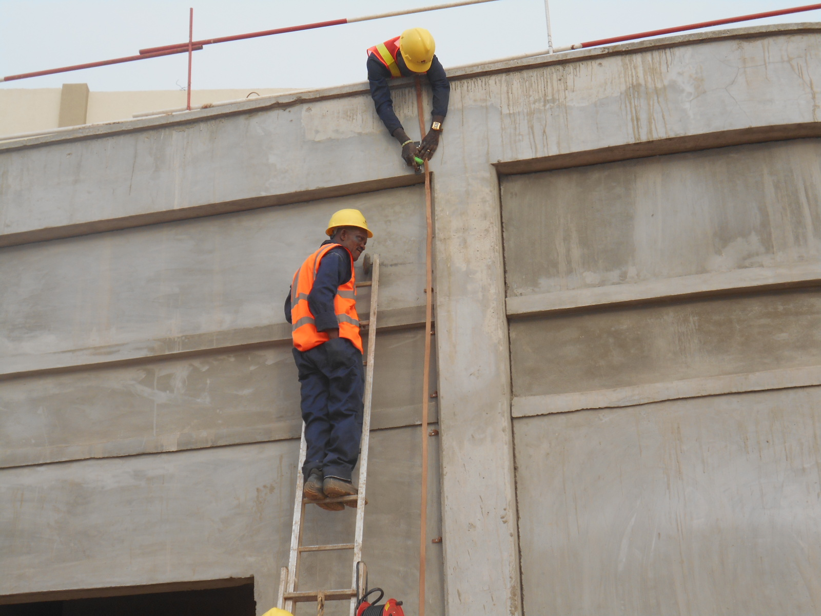 RUNING OF COPPER TAPE AT JABI SHOPPING MALL, ABUJA 2
