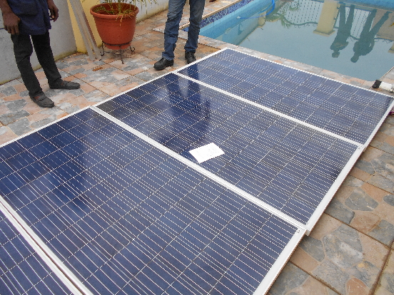 PREPARATION OF SOLAR PANELS FOR INSTALLATION AT A CLIENT ALONG REDEEM CAMP, LAGOS IBADAN EXPRESSWAY