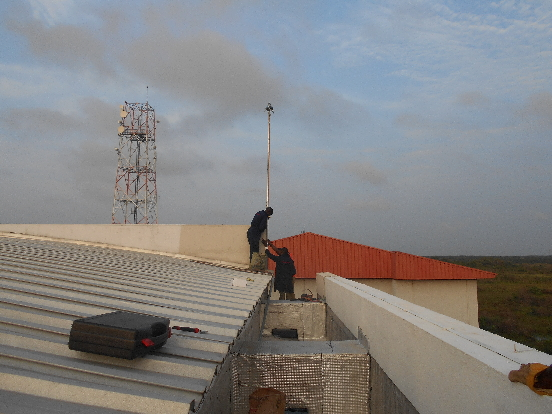 MOUNTING OF PREVECTRON 3 MODEL WITH ELEVATION ON THE WALL AT MAINONE CABLE SITE, AJAH, LAGOS.